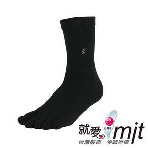 健康除臭五footer 除 臭 襪 評價趾襪-(黑色)襪子