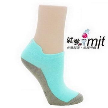 除臭造男生 腳 臭型船襪-(水綠)襪子