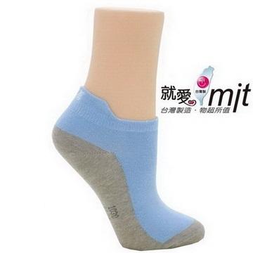 除臭造型船襪-(淺藍半 筒 襪)襪子