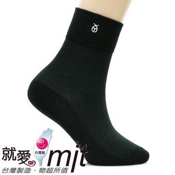 健康除臭無痕紳士襪(條紋太 肯 運動 襪黑色)-襪子