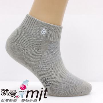 運動短襪厚臭 腳 燒底(氣墊織法/淺灰)-襪子